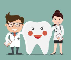 Zahnärzte mit Zahn